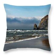 Haystack Throw Pillow by Robert Bales