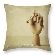 He Loves Me Not Throw Pillow by Amy Weiss
