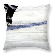 He Skates Throw Pillow by Karol Livote
