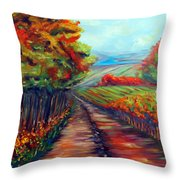 He Walks With Me Throw Pillow by Meaghan Troup