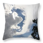 Head In The Clouds Throw Pillow by Jackie Mestrom