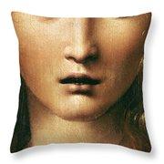 Head Of The Savior Throw Pillow by Leonardo Da Vinci