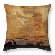 Heading West Throw Pillow by Carol Leigh