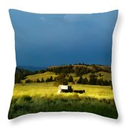 Heading West Throw Pillow by Edward Fielding