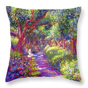 Healing Garden Throw Pillow by Jane Small