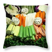 Healthy Veggie Snack Platter - 5d20688 Throw Pillow by Wingsdomain Art and Photography