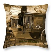 Hearse Poster Throw Pillow by Crystal Loppie