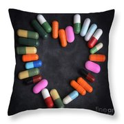 Heart concept Throw Pillow by BERNARD JAUBERT