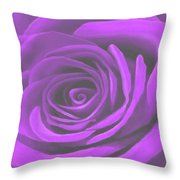 Heart Of A Purple Rose Throw Pillow by SophiaArt Gallery
