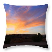 Heart Sunset Throw Pillow by Augusta Stylianou
