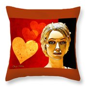 Hearts Throw Pillow by Chuck Staley