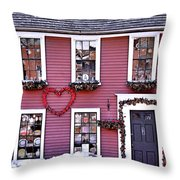 Hearts Throw Pillow by Janice Drew