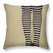 Hearts N Stripes Throw Pillow by Evelina Kremsdorf