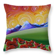 Heaven On Earth Throw Pillow by Cindy Thornton