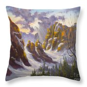 Heavenly Light Throw Pillow by Mohamed Hirji