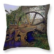 Heavy Metal Throw Pillow by Terry Reynoldson