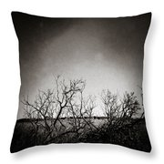 Hedgerow Throw Pillow by Dave Bowman