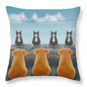 Heirarchy Throw Pillow by Marlene Watson
