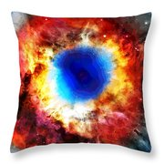 Helix Nebula Throw Pillow by Dan Sproul