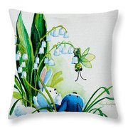 Hello There Throw Pillow by Hanne Lore Koehler