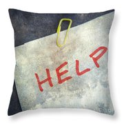 Help Throw Pillow by Bernard Jaubert