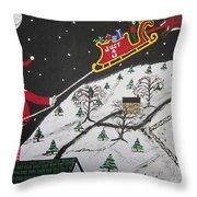 Help Santa's Stuck Throw Pillow by Jeffrey Koss