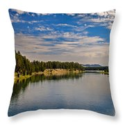 Henry Fork of Snake River II Throw Pillow by Robert Bales