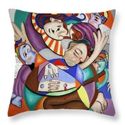 Here My Prayer Throw Pillow by Anthony Falbo
