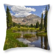Hesperus Mountain Reflection Throw Pillow by Aaron Spong