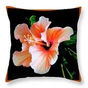 Hibiscus Spectacular Throw Pillow by Ben and Raisa Gertsberg
