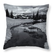 Hidden Beneath The Clouds Throw Pillow by Mike  Dawson