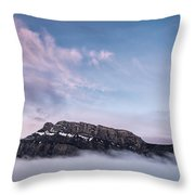 High Above The Clouds Throw Pillow by Jon Glaser