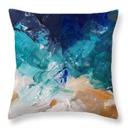 High As A Mountain- Contemporary Abstract Painting Throw Pillow by Linda Woods