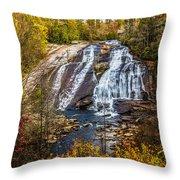 High Falls Throw Pillow by John Haldane