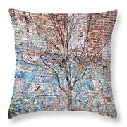 High Line Palimpsest Throw Pillow by Rona Black