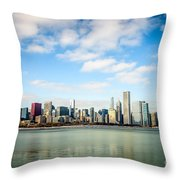High Resolution Large Photo Of Chicago Skyline Throw Pillow by Paul Velgos