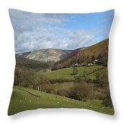 Highlands - Scotland Throw Pillow by Mike McGlothlen