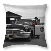 Highway Patrol 5 Throw Pillow by Tommy Anderson