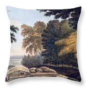 Hill Village In The District Of Bauhelepoor Throw Pillow by William Hodges