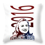 Hillary 2016 Throw Pillow by Jost Houk
