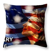 Hillary 2016 Throw Pillow by Marvin Blaine