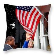 Hillary Clinton Throw Pillow by Ed Weidman