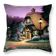 Hillcrest Cottage Throw Pillow by Steve Read