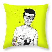 Hipsters Not Dead Throw Pillow by Balazs Solti