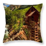 Historic Colorado Throw Pillow by Adam Jewell
