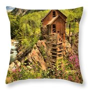Historic Crystal Colorado Throw Pillow by Adam Jewell