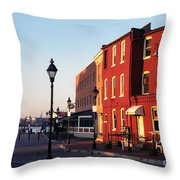 Historic Fells Point Throw Pillow by Thomas R Fletcher