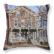 Historic Home Westifled New Jersey Throw Pillow by Anthony Butera