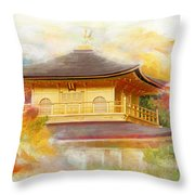 Historic Monuments Of Ancient Kyoto  Uji And Otsu Cities Throw Pillow by Catf