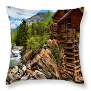 History On The Edge Throw Pillow by Adam Jewell